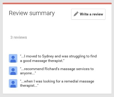 Reviews of Richard Lane Massage